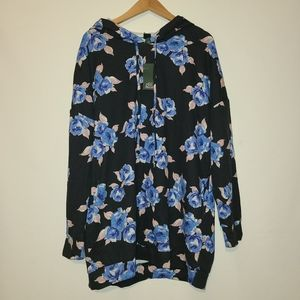 Nwt Wild Fable Black Floral Hoodie XL